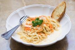 Spicy ebiko  spaghetti Stock Photography