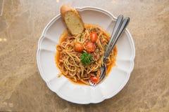 Spicy ebiko  spaghetti Royalty Free Stock Photos