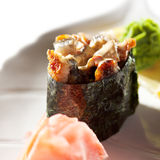 Spicy Eel Gunkan Stock Photography