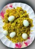 Spicy Egg Biryani royalty free stock images