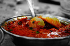 Spicy egg curry Stock Images