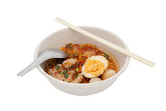 Spicy egg noodle Royalty Free Stock Photos
