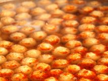 Spicy Fish Ball Soup Royalty Free Stock Photos