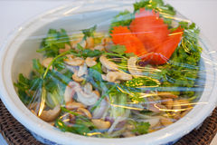 Spicy fish in a bowl Stock Images