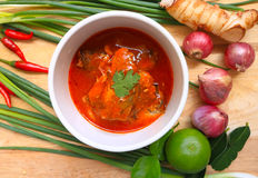 Spicy fish Canned Sardines Salad Stock Image