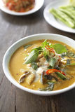 Spicy fish curry with chili and coconut sauce Royalty Free Stock Images