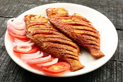 Spicy fish fry. Tasty and spicy fish fry from Indian cuisine Stock Photos