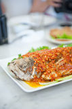 Spicy fish in malacca Stock Images