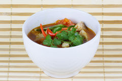 Spicy fish soup Royalty Free Stock Photos