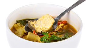Spicy fish soup Royalty Free Stock Photography