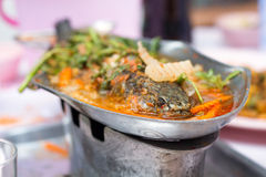 Spicy fish Tom-yum. Thailand cuisine Stock Image