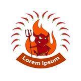 Spicy food logo Stock Photo