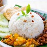 Spicy food nasi lemak Stock Photos