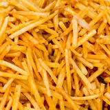 Spicy french fries fast food snack like background from India, c Royalty Free Stock Image