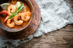 Spicy french soup with seafood Royalty Free Stock Photos