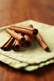 Spicy fresh cinnamon sticks Stock Image