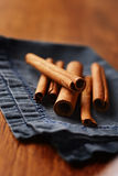 Spicy fresh cinnamon sticks Stock Photos