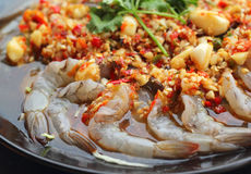 Spicy fresh shrimp - asia food Stock Images