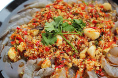 Spicy fresh shrimp - asia food Stock Photography