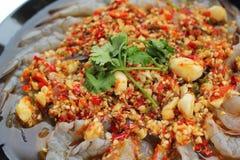 Spicy fresh shrimp - asia food Royalty Free Stock Image