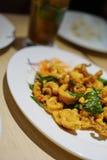 Spicy Fried Calamari stock image