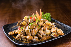 Spicy fried clams Royalty Free Stock Photo