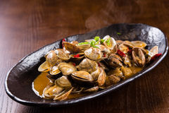 Spicy fried clams Stock Photos