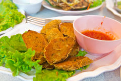 Spicy fried fish ball Stock Photo