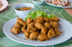 Spicy fried fish ball Stock Photography