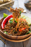 Spicy fried noodle Stock Images