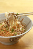 Spicy fried noodle. In a bowl Stock Photography
