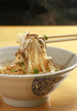 Spicy fried noodle. In a bowl Royalty Free Stock Image