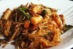 Spicy fried noodles Royalty Free Stock Photography