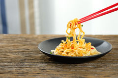 Spicy fried noodles Royalty Free Stock Photo