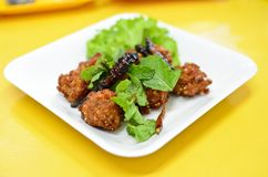 Spicy fried pork ball Stock Image