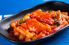 Spicy fried rice cake Royalty Free Stock Photos