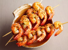 Spicy fried shrimps Royalty Free Stock Photography