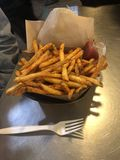 Spicy Fries royalty free stock photography