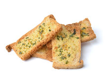 Spicy garlic and parsley crackers Royalty Free Stock Photos