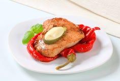 Spicy glazed pork chop Royalty Free Stock Image