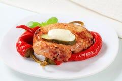 Spicy glazed pork chop Stock Photo