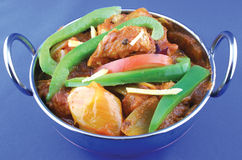 Spicy goat meat. Indian hot and spicy goat meat royalty free stock image