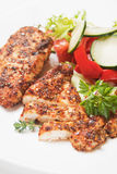 Spicy grilled chicken meat Stock Photo