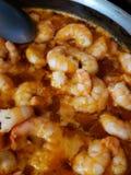Spicy Habanero Shrimp royalty free stock photography