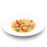 Spicy healthy thai tom yum soup Royalty Free Stock Image