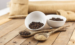 Spicy herb - black pepper Stock Images