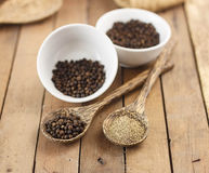 Spicy herb - black pepper Royalty Free Stock Photos