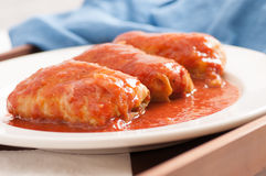 Spicy home made cabbage rolls Stock Photography