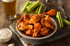 Spicy Homemade Buffalo Wings Royalty Free Stock Images