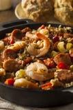 Spicy Homemade Cajun Jambalaya royalty free stock photo